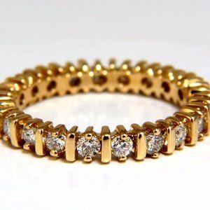 .80ct Natural Round Diamonds Eternity Ring 14kt